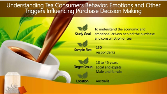 tea consumers behavior and emotions
