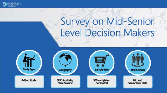 Case study on mid-senior level decision makers to understand their IT budgets and planning to purchase products/services for the company