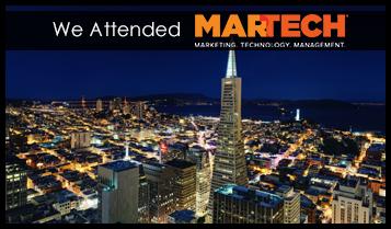 We are attending MARTECH 2018, San Jose, CA