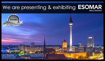 We are presenting & exhibiting (bronze sponsor) ESOMAR Congress