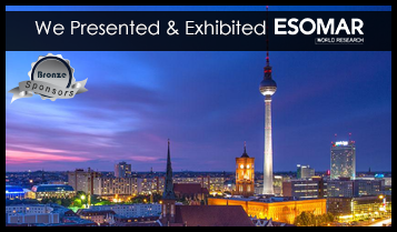 We are presenting & exhibiting (bronze sponsor) ESOMAR Congress